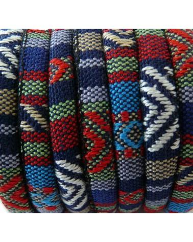 Cordon ethnique rond multicolore N°1 x 25cm