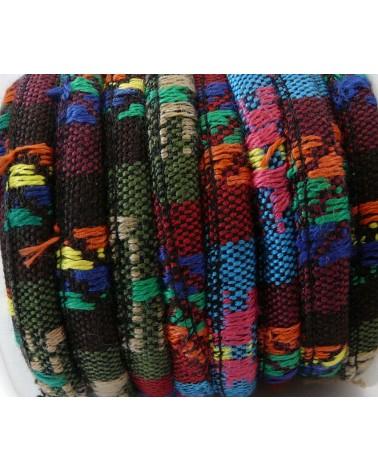 Cordon ethnique rond multicolore N°2 x 25cm