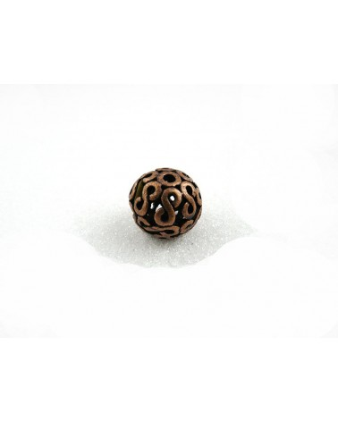 Perle filigranée décor infini cuivre 18mm X 1