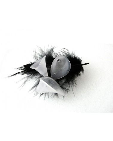 Fleur d'Arum acylique 25mm Blanc X 10