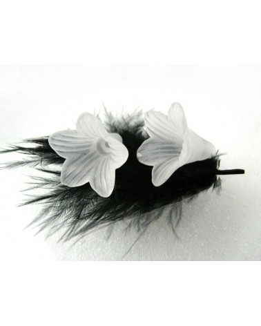Fleur lucite 22x20mm Blanc X 10