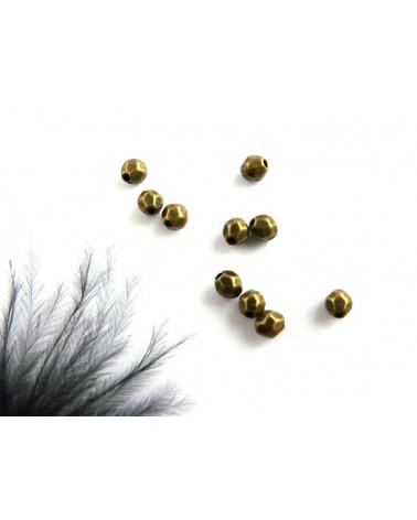 ovales facettées 4 x 3.5mm bronze X 10