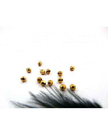 ovales facettées 4 x 3.5mm doré X 10