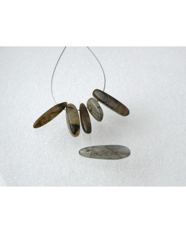 "Labradorite naturelle ""dague"" x 5"
