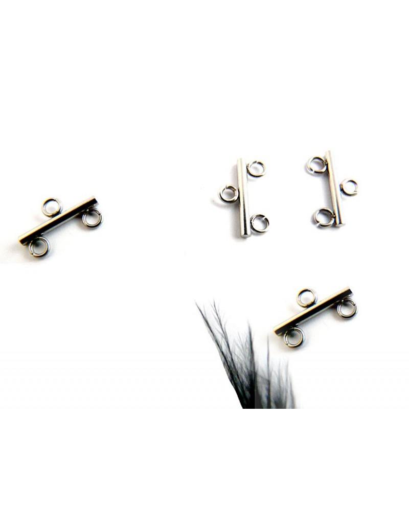 Embout connecteur 2 rangs 12mm acier inoxydable X 1