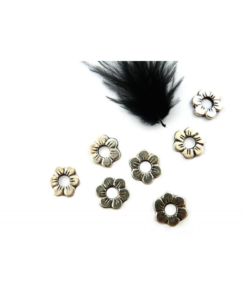 Intercalaire  fleur 13mm argenté X 1