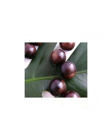 Ebène grosse perle bois exotique Brun nuancé 25mm X 1