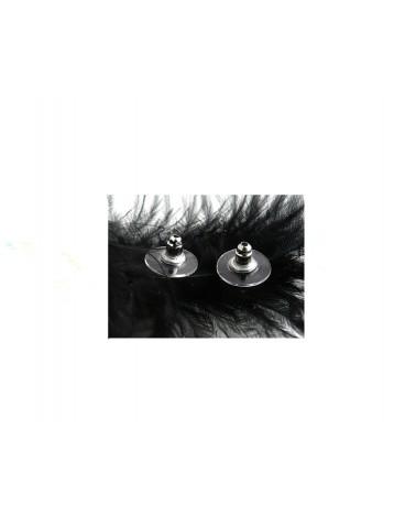 Poussoir large pour clou d'oreille argenté X 2