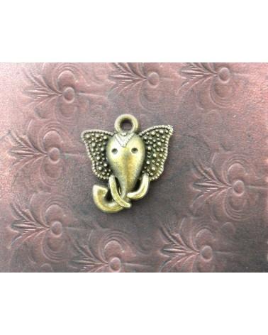 Breloque Ganesh Dieu Eléphant 16mm bronze x1