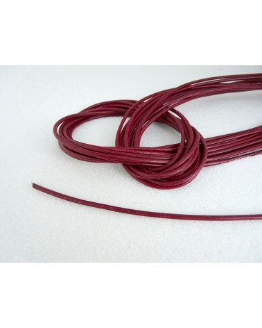 Cordon-cuir-Rouge-2mm X 105 cm