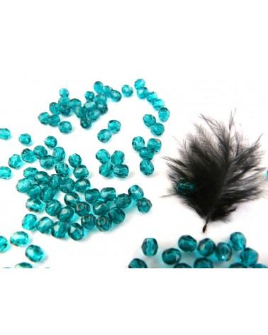 Facettes de Bohême 4mm Bleu zircon  x 50