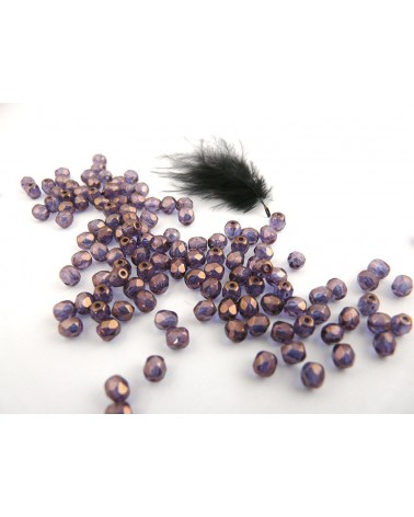 Facettes de Bohême 4mm Crystal vega luster x 50