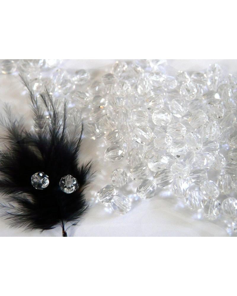 Facettes de Bohême 4mm crystal x 50