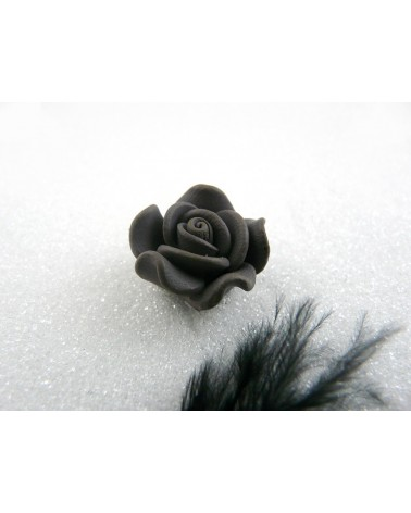 Rose Fimo 20mm Gris uni X 1