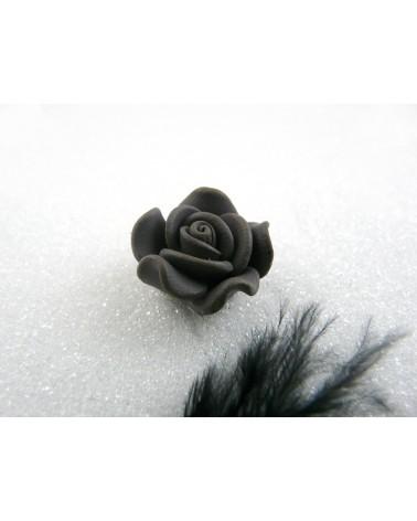 Rose Fimo 20mm Gris uni X 1