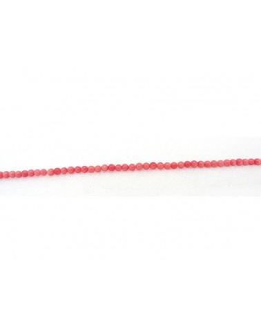 Perle lisse 3mm en corail rouge Grade AAA x 72 perles