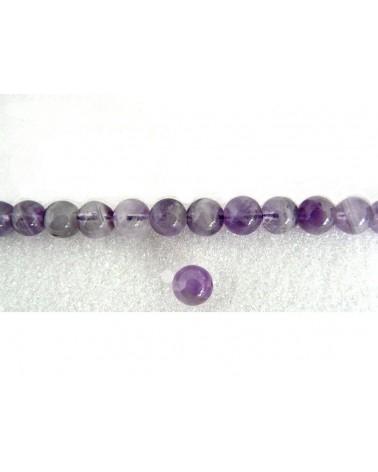 Amethyste 8mm lisse grade AA violet par 10