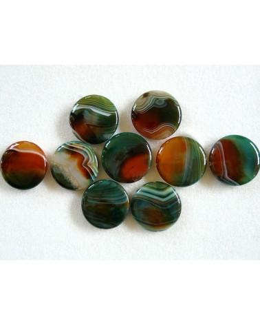 Agate- Malachite- Grade A -40 x 40 x 6MM x 1- G342-74-857
