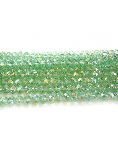 ABACUS 6 x 8mm Crystal vert AB x 20