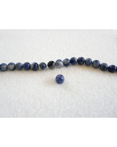 sodalite perles 10mm bleu blanc