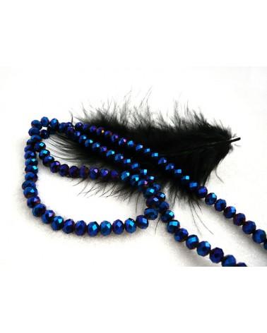 ABACUS 4x6mm Bleu violet x 20 ou par 1 rang