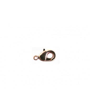 Fermoir mousqueton 10 x 5mm cuivré rose X 1