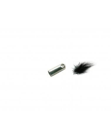 Embout à coller pour cordon 2.5mm en acier inoxydable X 4