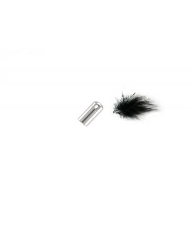 Embout à coller pour cordon 1.5mm en acier inoxydable X 4