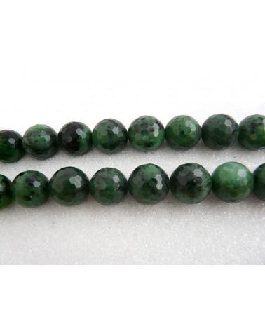 Zoisite facettée 12mm vert et noir X 1