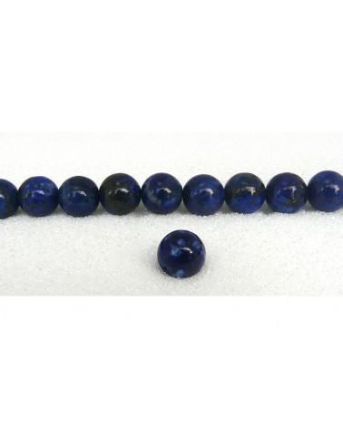 lapis lazuli lisse 14mm Bleu x 1