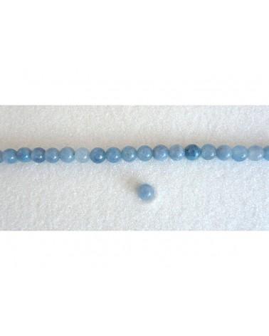 Aigue marine lisse 6mm bleu par 15