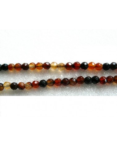 Agate Miracle 4mm facettées marron x 20