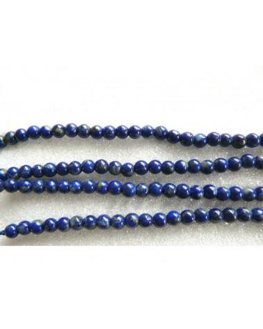 lapis lazuli lisse 4mm bleu X 20