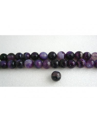 Agate de Madagascar facettée10mm  violet X 5