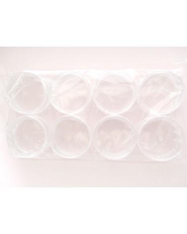 Boîte ronde en plastique de  50mm de diamètre  x 1 ou pack de 8