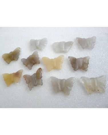 Papillon en Agate 20x16mm-au choix- X 1