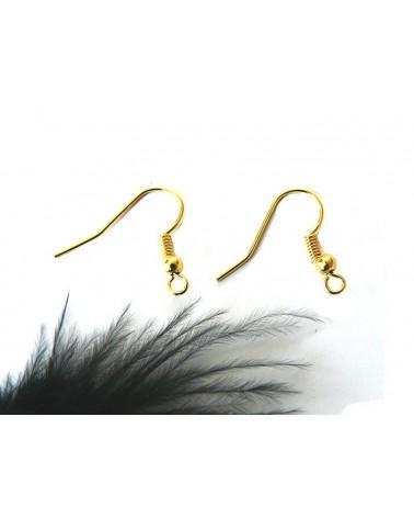 Crochets d'oreilles boule 18.5mm DORE x 6 ou par 100