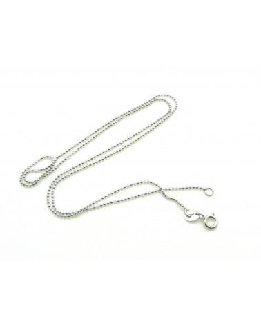 Chaîne à billes 1mm Argent 925 collier 44.5cm X 1