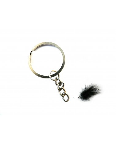 Porte clef métal anneau 30mm argenté X 1