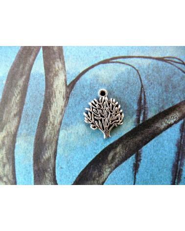 Breloque arbre 16x20mm argenté vieilli x1