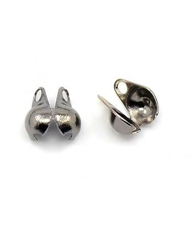 Cache-noeud ou Embout boule 3mm pour chaîne à billes 1.6 à 2.5mm platine X10