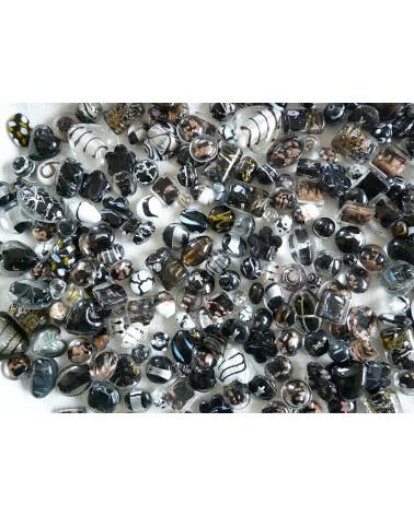 Perles en verre mélangées MIX n°6 x 100 gr (environ 13-15 perles)