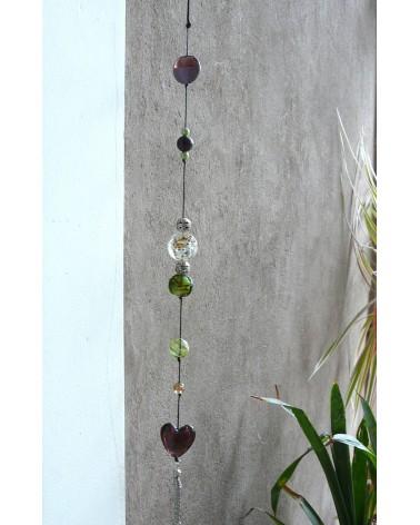 Perles en verre mélangées MIX n°4 X 100 gr (environ 13-15 perles) ROSE VIOLINE