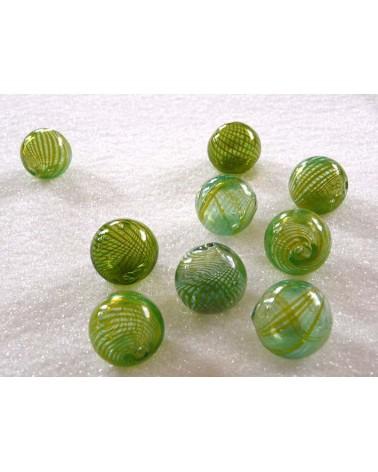 Verre soufflé 20mm vert anisé X1