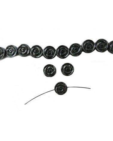 Hématite cercle évidé 16mm noir X1
