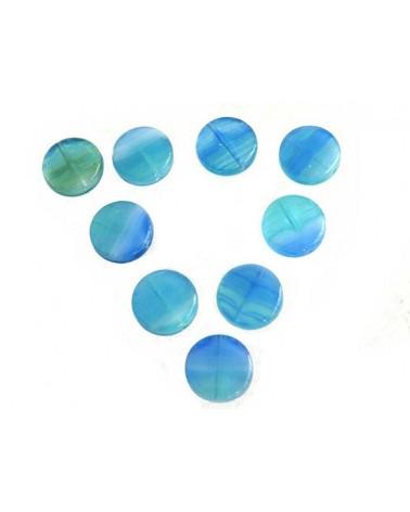Bohême palet 10mm bleu lagon X 5
