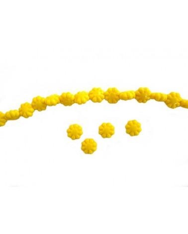 Fleur Bohême 9mm jaune X 4
