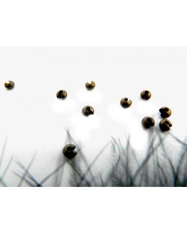 Caches perles à écraser 3mm BRONZE X 25