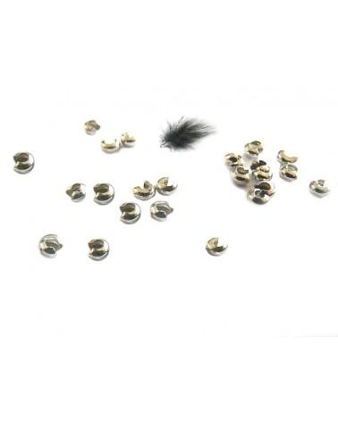 Caches perles à écraser 3mm PLATINE X 25