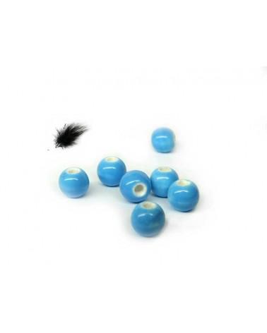 Céramique 6mm bleu turquoise par 15